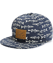 Dark Seas Marlin Spike Strapback Hat