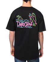 Dark Seas Party Parrot Black Tee Shirt