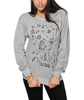 Dark Seas Sea Sick Crew Neck Sweatshirt