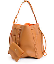 De L'Avion Cognac Bucket Bag