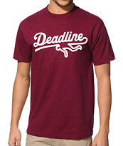 Deadline Sports Logo Burgundy Tee Shirt