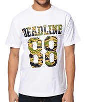 Deadline Tiger Camo Jersey White Tee Shirt