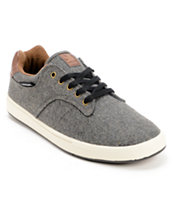 Dekline Dalton Pewter Wool & Leather Skate Shoe