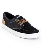 Dekline Mason Black & Latte Suede Skate Shoe