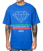 Diamond Supply Co 15 Years Brilliance Blue Tee Shirt