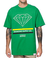 Diamond Supply Co 15 Years Brilliance Green Tee Shirt