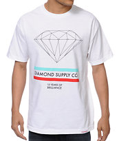 Diamond Supply Co 15 Years Brilliance White Tee Shirt