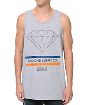 Diamond Supply Co 15 Years Of Brilliance Heather Grey Tank Top