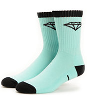 Diamond Supply Co 3 Pack Diamond Blue & Black Crew Socks