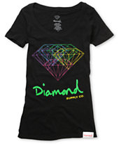 Diamond Supply Co All For One Black Scoop Neck T-Shirt