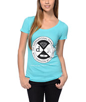 Diamond Supply Co All Or Nothing Aqua Scoop Neck Tee Shirt