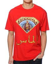 Diamond Supply Co Arabic Mary Red Tee Shirt