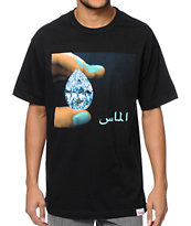 Diamond Supply Co Arabic Shining Black Tee Shirt
