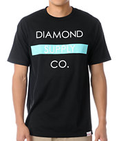 Diamond Supply Co Bar Logo Black Tee Shirt