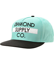 Diamond Supply Co Bar Logo Diamond Blue & Black Snapback Hat