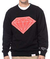 Diamond Supply Co Big Brilliant Black & Red Crew Neck Sweatshirt