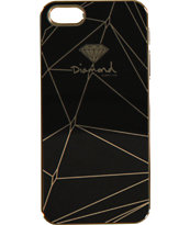 Diamond Supply Co Black & Gold iPhone 5 Snap On Case