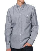 Diamond Supply Co Black Long Sleeve Woven Button Up Shirt