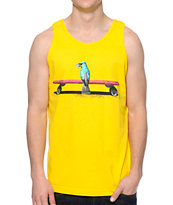 Diamond Supply Co Blue Bird Yellow Tank Top