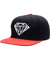 Diamond Supply Co Brilliant Black & Red Snapback Hat
