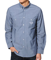 Diamond Supply Co Brilliant Blue Chambray Button Up Shirt