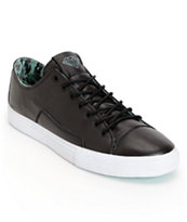Diamond Supply Co Brilliant Low Black Lamb Skin & Mint Skate Shoe