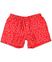 Diamond Supply Co Brilliant Red & White Boxers