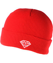 Diamond Supply Co Brilliant Red Fold Beanie