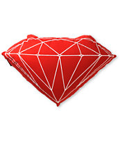 Diamond Supply Co Brilliant Red Pillow