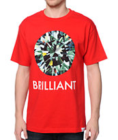 Diamond Supply Co Brilliant Red Tee Shirt