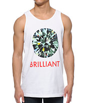 Diamond Supply Co Brilliant White Tank Top