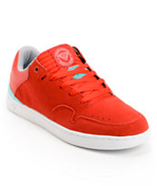 Diamond Supply Co Capital Red, Mint, & White Skate Shoe