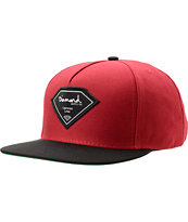 Diamond Supply Co Certified Lifer Burgundy & Black Snapback Hat