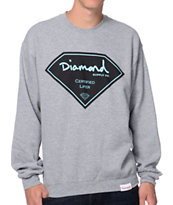 Diamond Supply Co Certified Lifer Grey Crew Neck Sweatshirt