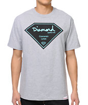 Diamond Supply Co Certified Lifer Heather Grey Tee Shirt