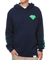 Diamond Supply Co Certified Lifer Navy Pullover Hoodie