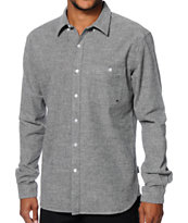 Diamond Supply Co Chambray Long Sleeve Button Up Shirt