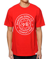 Diamond Supply Co Conflict Free Red T-Shirt