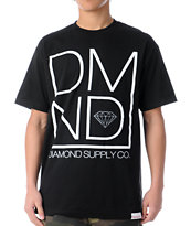Diamond Supply Co DMND Black Tee Shirt