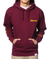 Diamond Supply Co DMND4Life Burgundy Pullover Hoodie
