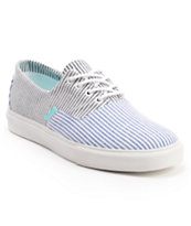 Diamond Supply Co Diamond Cuts Blue & Black Canvas Shoe