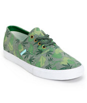 Diamond Supply Co Diamond Cuts Green Weed Camo Canvas Shoe