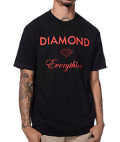 Diamond Supply Co Diamond Everything Black & Red Tee Shirt