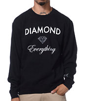 Diamond Supply Co Diamond Everything Black Crew Neck Sweatshirt