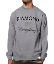 Diamond Supply Co Diamond Everything Charcoal Crew Neck Sweatshirt