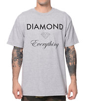 Diamond Supply Co Diamond Everything Heather Grey Tee Shirt