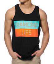 Diamond Supply Co Diamond Life Flag Black Tank Top