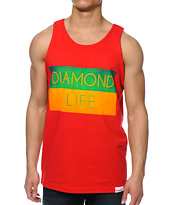 Diamond Supply Co Diamond Life Flag Red Tank Top
