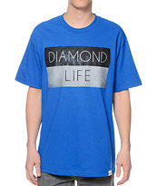 Diamond Supply Co Diamond Life Flag Royal Blue Tee Shirt