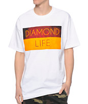 Diamond Supply Co Diamond Life Flag White Tee Shirt